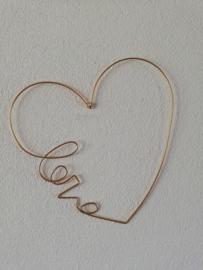 Gouden hart LOVE