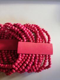 Elastische kralenarmband roze