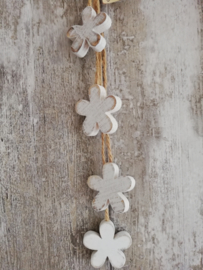 Hanger 4 bloemen wit