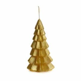 Kerstboomkaars goud klein