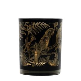 Waxinelichthouder papegaai zwart L