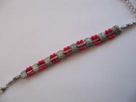 Kinder armband rood