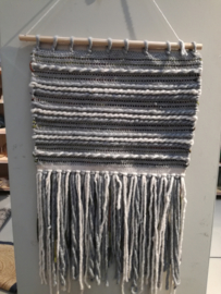 Wall carpet blauw & ecru