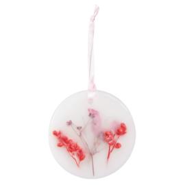 Geurhanger 7*7 roze lint