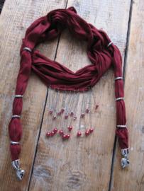 sjaal bordeaux 2 meter