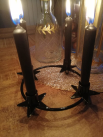 Kaarsenring zwart 21 cm