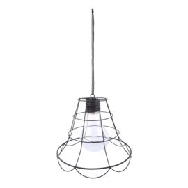 Theelicht hanglamp zwart metaal