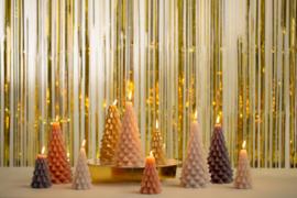 Kerstboomkaars goud groot