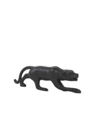 Leopard ornament mat zwart