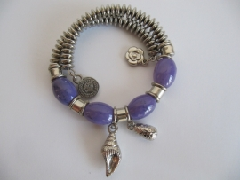 Rekbare armband paars