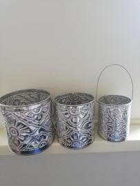 Decoratieve aluminium set van 3
