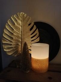 Rustik Lys windlicht wit goud