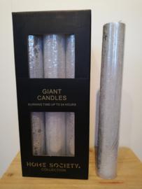 Kaars zilver XL