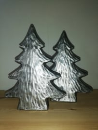 Kerstboom steen zilver 23cm