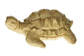 Schildpad goud 15 cm