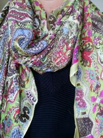 Sjaal geel paisley print