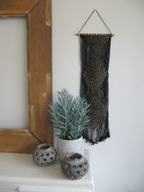 Wanddeco zwart & goud 106cm
