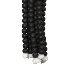 Tassel houten kralen zwart