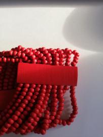 Elastische kralenarmband rood