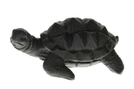 Schildpad zwart 15cm