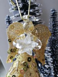 Kersthangers engel goud