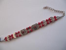 Kinder armband rood breed