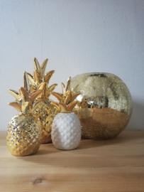 Windlicht goud crackle 15cm