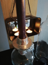 Bottle stopper candle gold