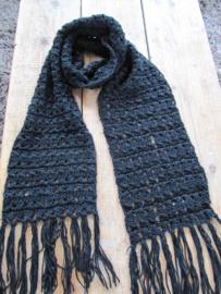 Sjaal en baret zwart