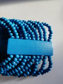 Elastische kralenarmband blauw