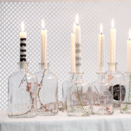 Fles/Kandelaar kerst
