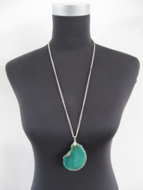 Halsketting natuursteen groen