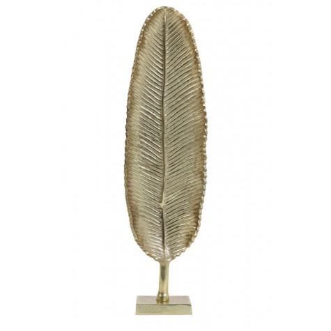 Ornament blad goud op voet hoogte 41cm