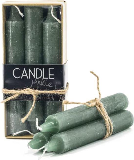 Kolony doosje kaarsen rustique groen