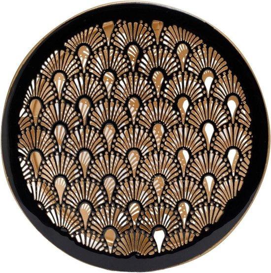 Wandhanger Art Deco zwart