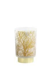 Tafellamp LED branch glas wit-goud