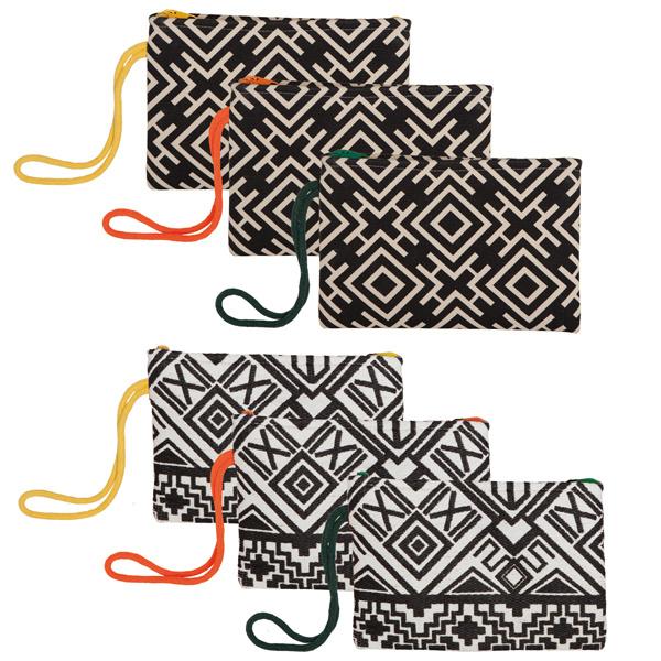 Handed By Africanos zwart/wit met geel hengsel