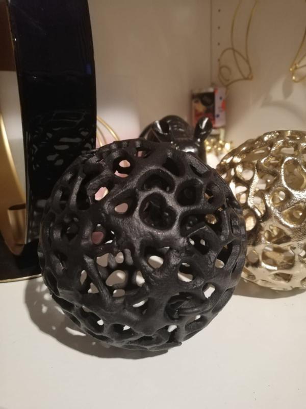 Decoratie bal mat zwart