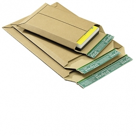 Verzendenvelop golfkarton bruin 187x272x50mm