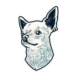 Hond met tattoo's Fun-Tattoo