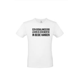 Luxe spreuken t-shirt - een gebalanceerd leven 1