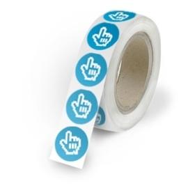 Stickers op rol 45 mm doorsnede