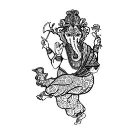 1x Feest olifant spiritueel 200x290mm Fun-Tattoo