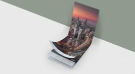 Huurdies - XL Steden kalender 70x24cm (verjaardagskalender)