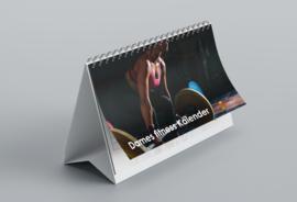 Huurdies - Damesfitness kalender 14,85x21cm (bureaukalender)