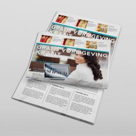 Krant 8 pagina's  weekend formaat gevouwen naar A4