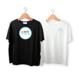 T-shirts tweezijdig bedrukt