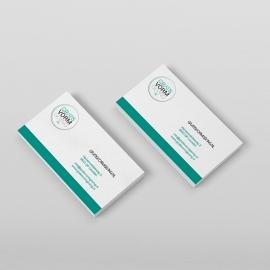 Visitekaartjes(85x55mm) full color 350grs silk wit