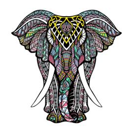 1x Feest olifant 200x290mm Fun-Tattoo