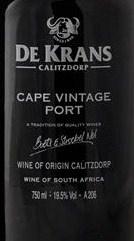 De Krans Cape Vintage 2015